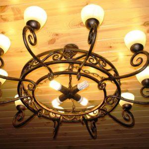 Кованые люстры, светильники Подвесная кованая люстра Арт. ЛЮ-002 Norkovka