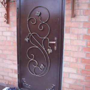 Кованые двери Входная кованая дверь из металла Арт. Д-013 Norkovka