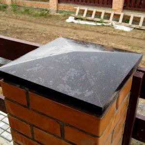 Тротуарная плитка Крышка на столбы и на забор Norkovka
