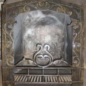 Кованые камины Кованый экран для камина латунного цвета Арт. КА-010 Norkovka