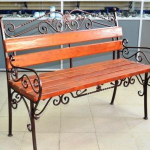 Кованые скамейки Классическая кованая скамейка для улицы Арт. СК-011 Norkovka
