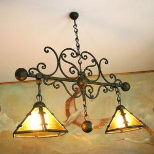 Кованые люстры, светильники Потолочный кованый светильник Арт. С-010 Norkovka