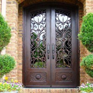 Кованые двери Кованая дверь шоколадного цвета Арт. Д-011 Norkovka