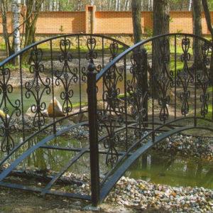 Кованые мосты Классический кованый мост Арт. МО-006 Norkovka