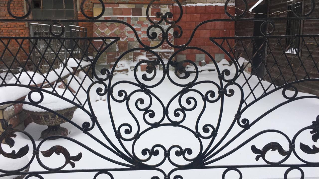 Кованый забор кузницы Норковка